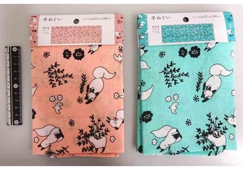 Tenugui towel flower & fox