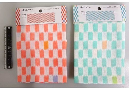 Japanese towel checkered