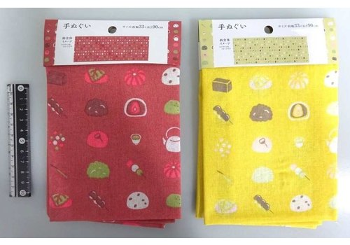 Tenugui towel Japanese confectionery