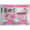 Pika Pika Japan Clear sticker pink A