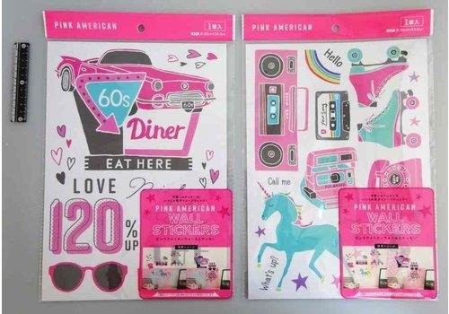 Wall sticker pink A