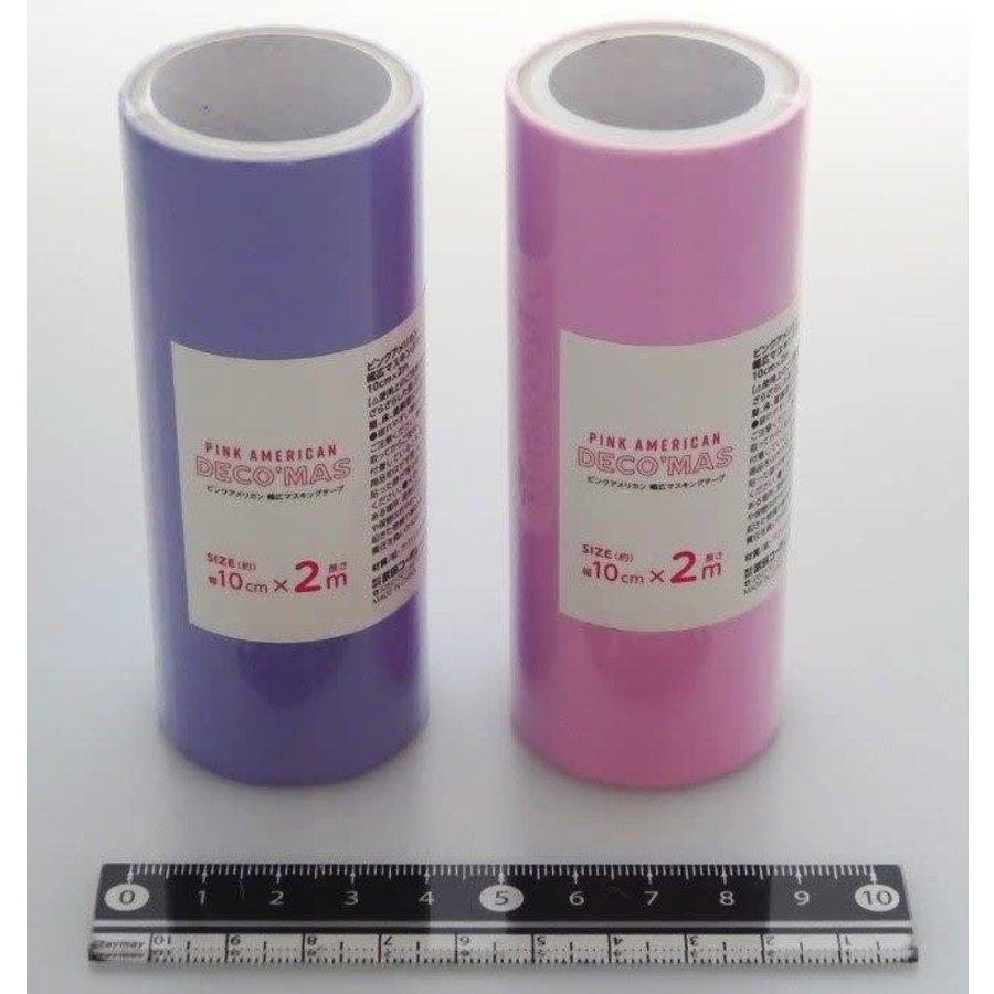 Décor masking tape 10cm pink-1
