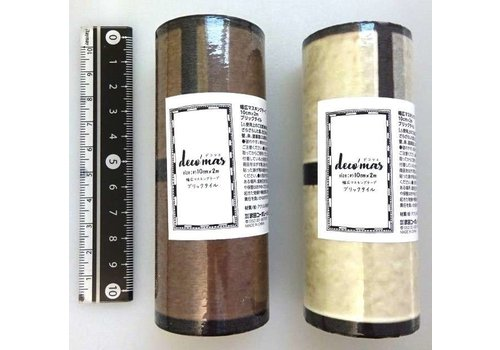 Wide decoration masking tape 10cm B tile