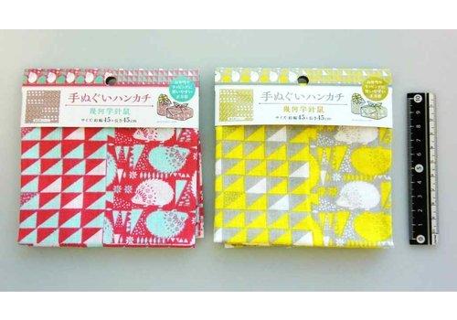 Washcloth handkerchief geometric pattern hedgehog