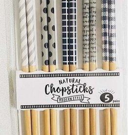 Pika Pika Japan Lacquer coated bamboo chopsticks 5p modern style