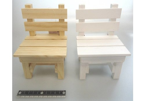 Wooden flower stand chair