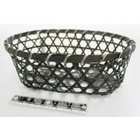 Bamboo knitting basket oval M