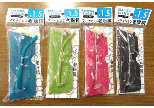 Fashion reading glasses with case +1.5