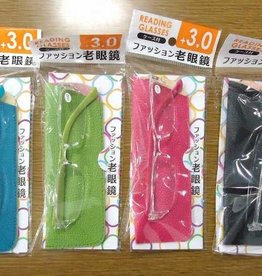 Pika Pika Japan Fashion reading glasses with case +3.0