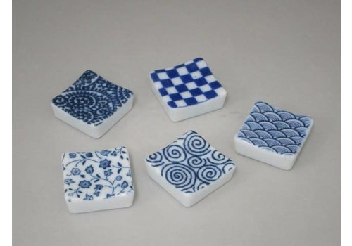 Chopstick rest square shape Edo small pattern