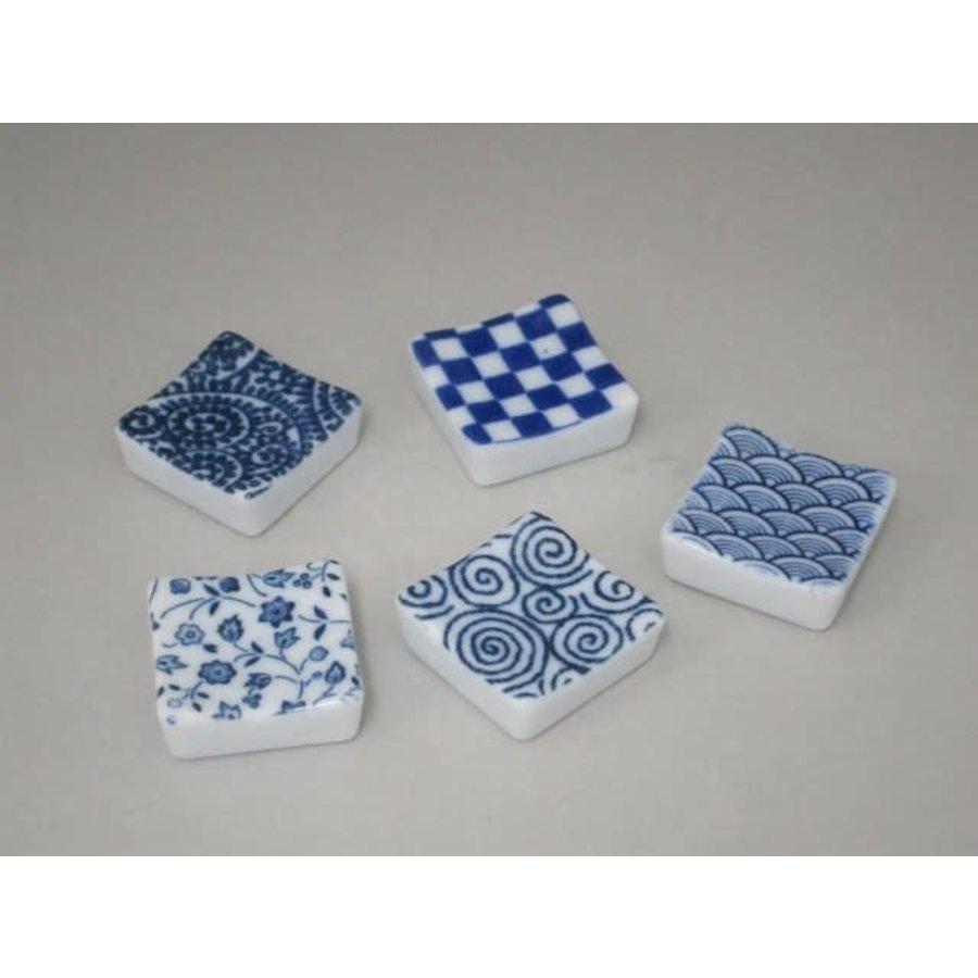 Chopstick rest square shape Edo small pattern-1