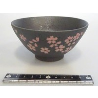 Cherry blossoms (black) rice bowl
