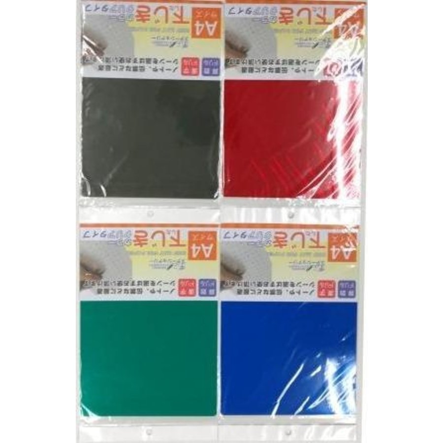 A4 celluloid sheet clear color-1