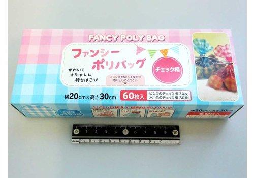 Fancy food polybag, tartan, 60p