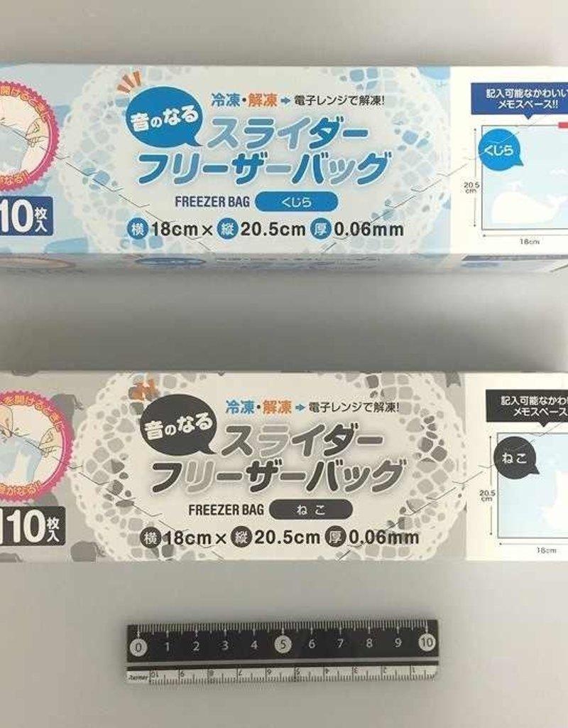 Pika Pika Japan Alarming slide freezer bag M 10p