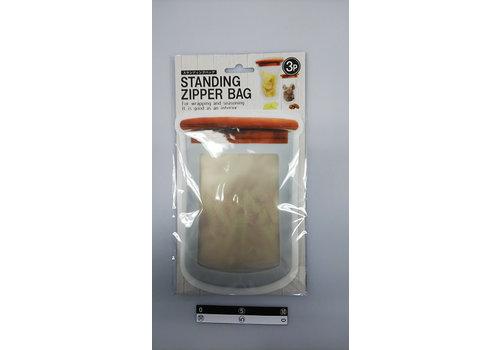 Self-standing resealable bag, medium, 3p