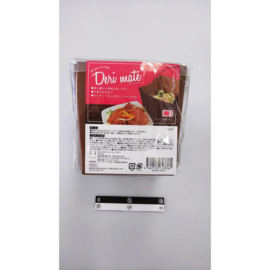 Deli box with handle brown-1