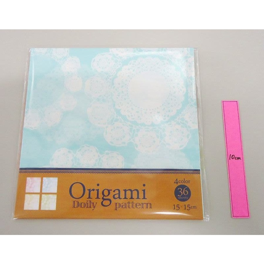 Lace pattern origami 15cm 4 patterns 36s-1