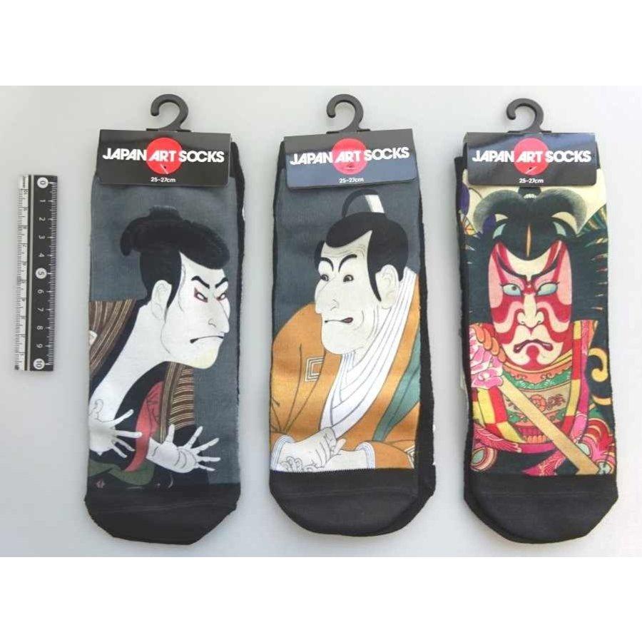 Japanese pattern men's short socks A-1