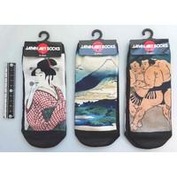 Japanese pattern ladies short socks B