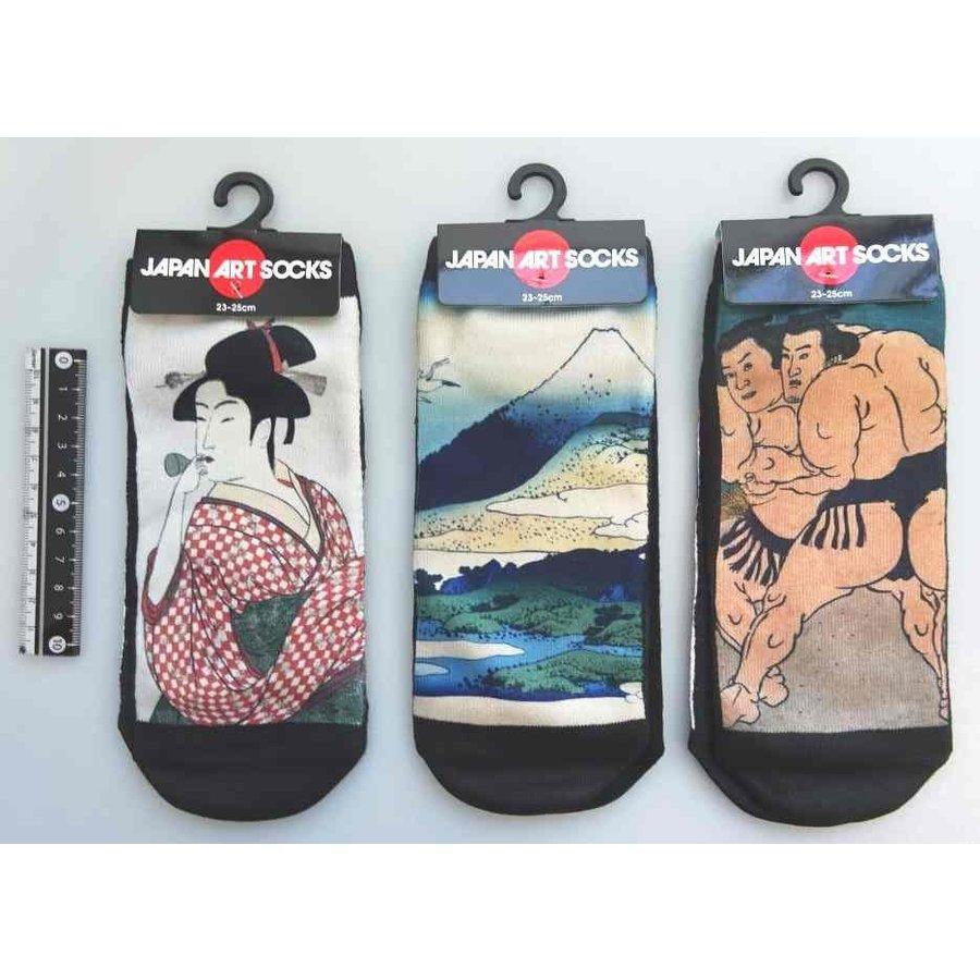 Japanese pattern ladies short socks B-1