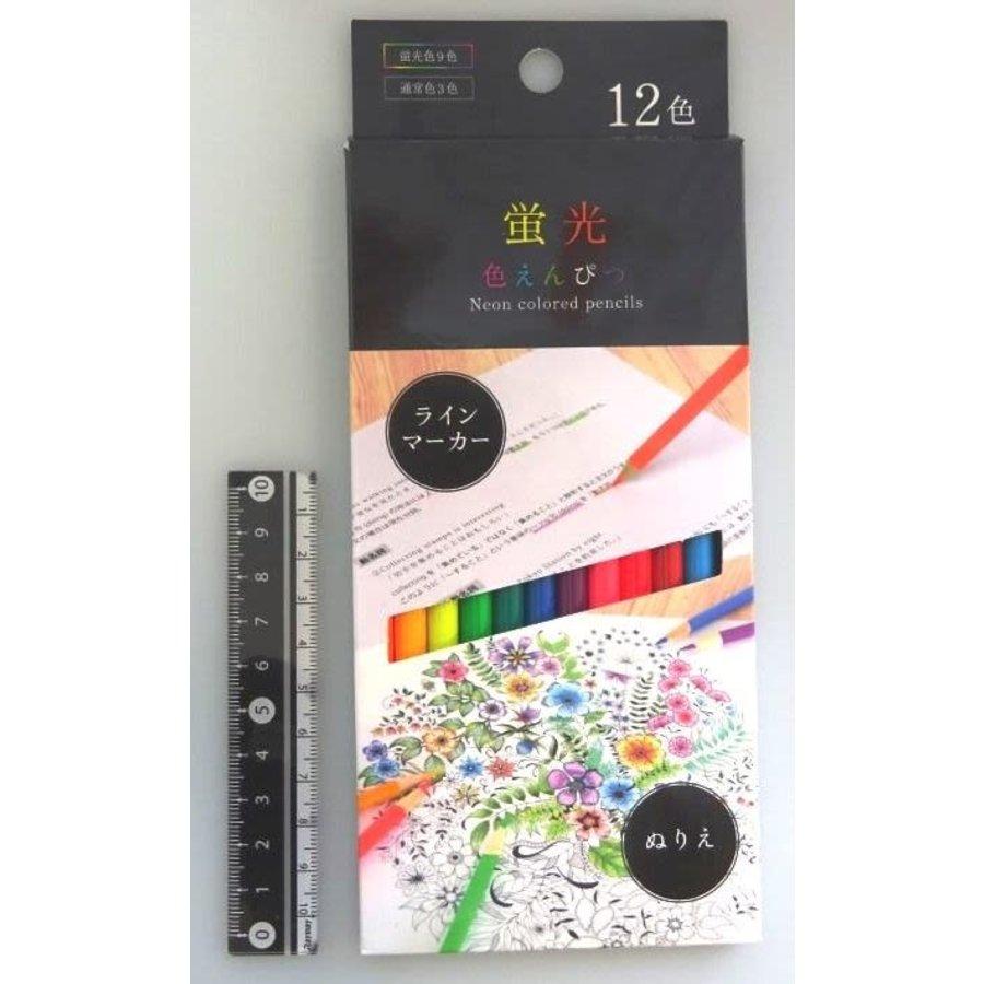 Fluorescent color pencil 12 colors-1