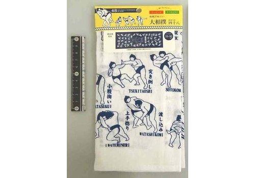 Japanese style tenugui hand towel sumo 48 arts