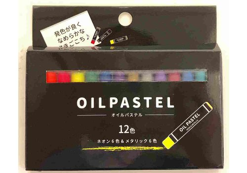 Oil pastel metallic & neon 12 colors