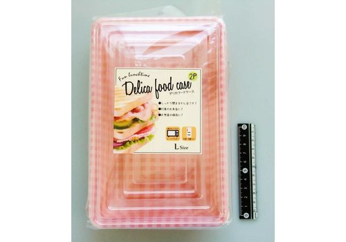 Disposable lunch box, tartan, large, 2p