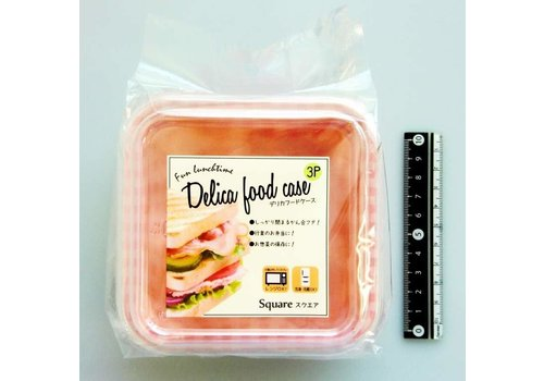 Disposable lunch box for salad, tartan, , 3p