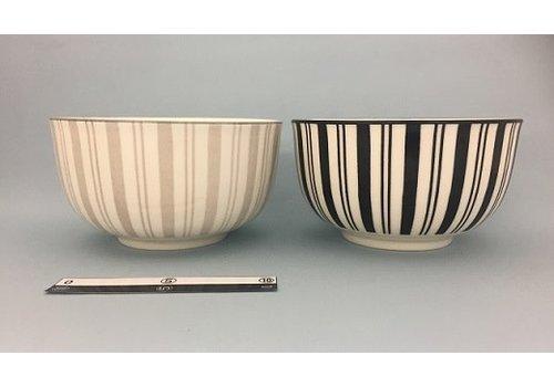 Round rice bowl stripe
