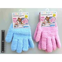 Microfiber cloth cleaning gloves