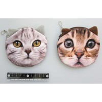 Animal face pouch cat