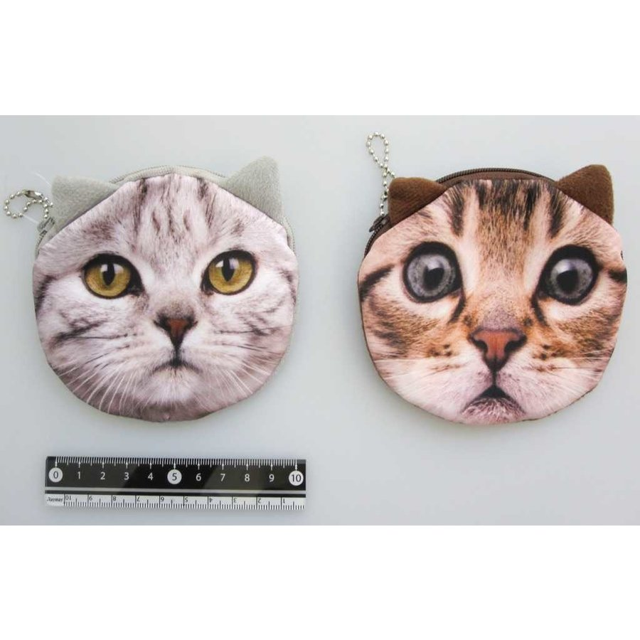 Animal face pouch cat-1