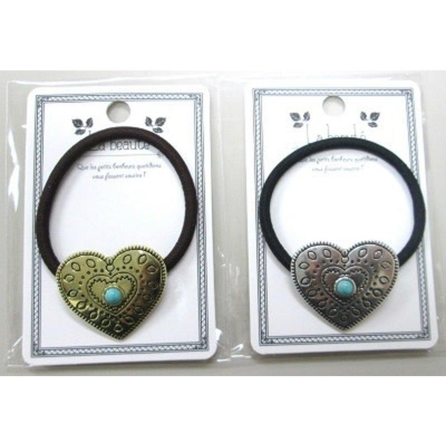 Hair elastic (heart,bohemian)-1