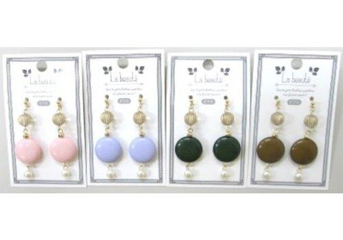 Earrings(Retro mix beads)