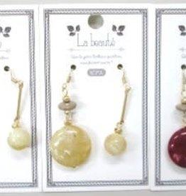 Pika Pika Japan Asymmetry color beads pierced earrings