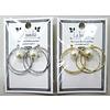 Pika Pika Japan W ring pierced earrings with pearl