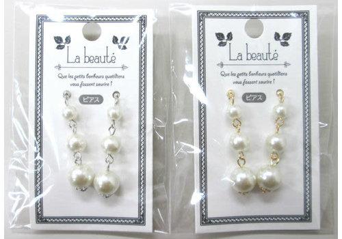 Earrings(pearl line)