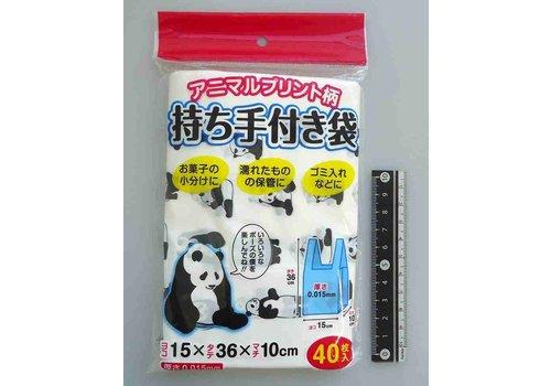 Food plastic bag, panda, 40p