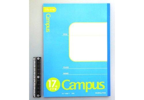 B5 notebook vertical 17 lines
