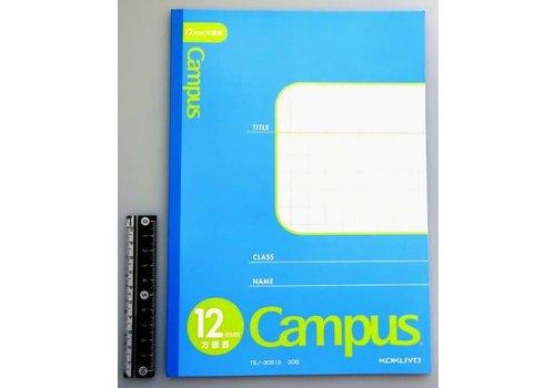 B5 notebook grid 12mm blue