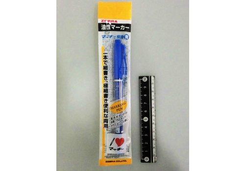 Zebra oil-based marker thin blue