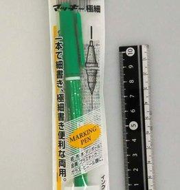 Pika Pika Japan Zebra Mackey extra-fine pen Green