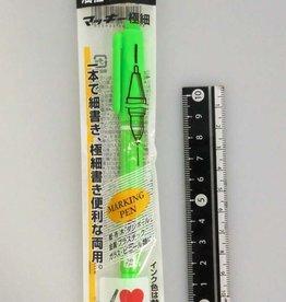 Pika Pika Japan Zebra Mackey extra-fine pen Light green