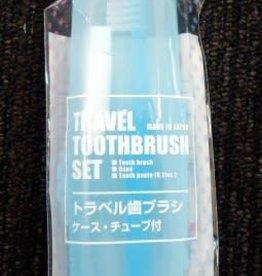Pika Pika Japan Travel toothbrush set with tube bl