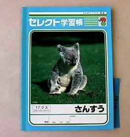 Pika Pika Japan B5 Mathmatics 17cells notebook k-2 for Japanese leaner