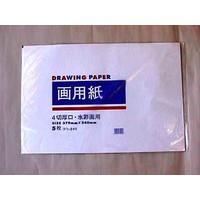 Tekenpapier, ook geschikt voor waterverf, 379 x 540 mm, 5 vellen