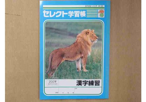 B5 size Japanese notebook 200words K-53