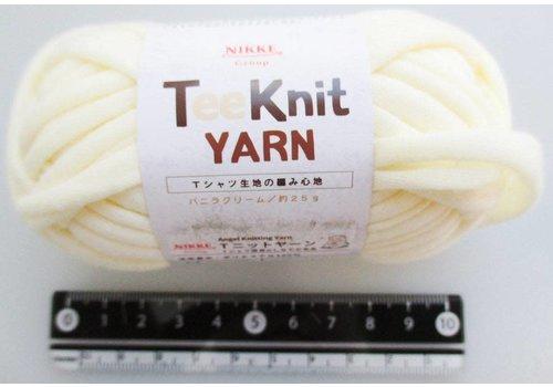 T-shirt yarn, vanilla